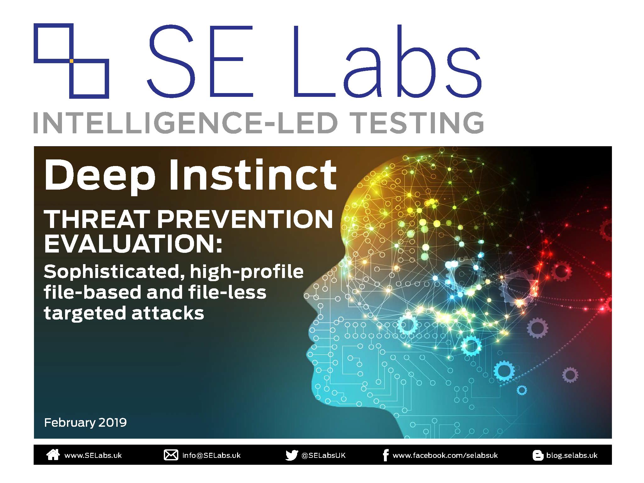 SE Labs_Deep Instinct threat prevention test_March 2019_Page_01